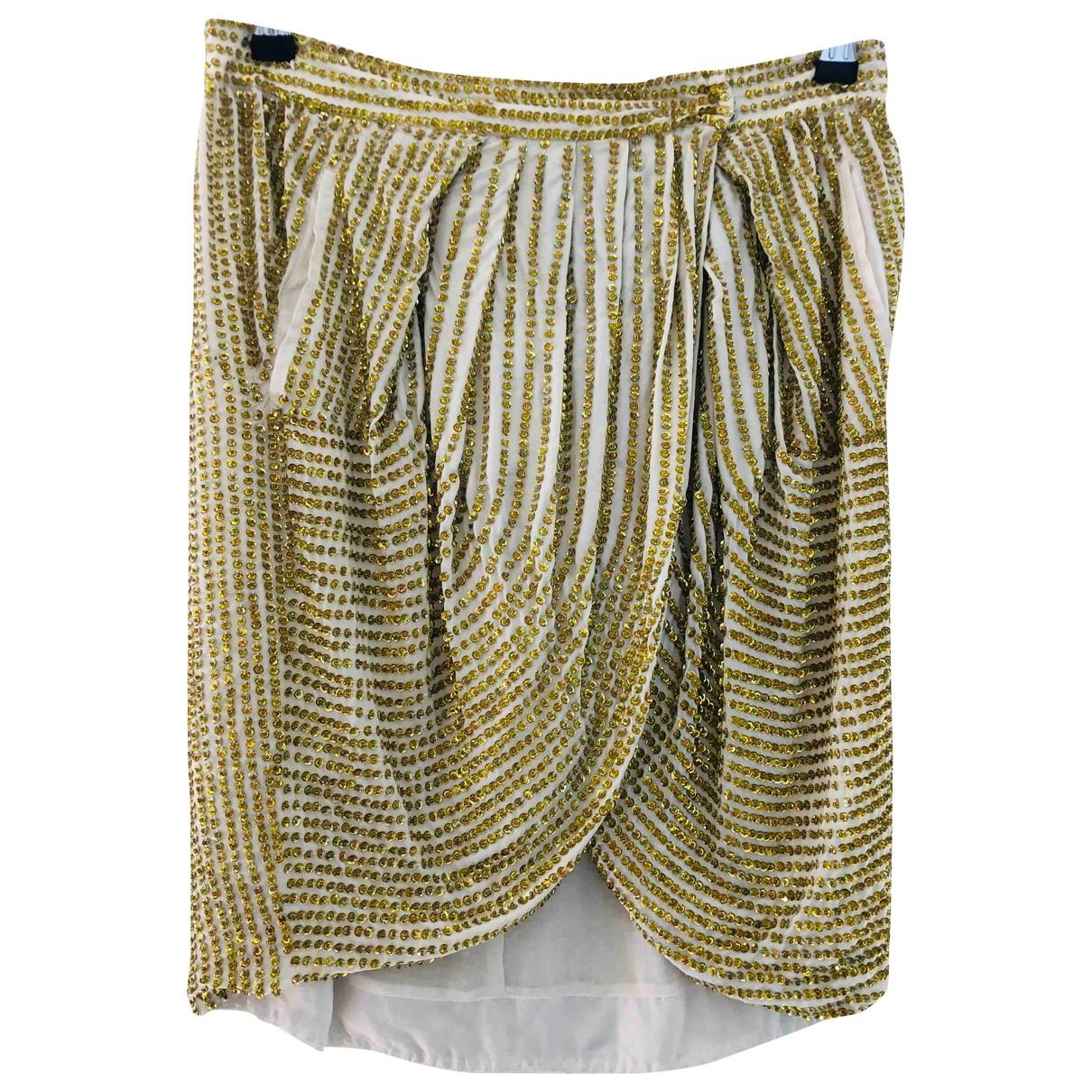 Antik Batik - Jupe   pour femme en a paillettes - dore