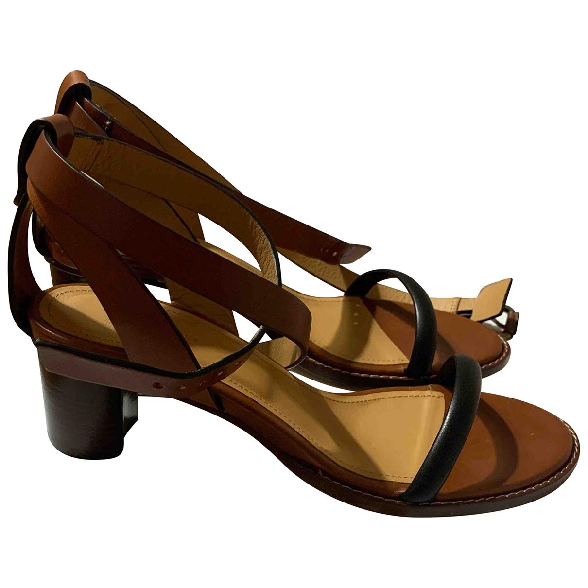 Sandalias romanas de Cuero Isabel Marant