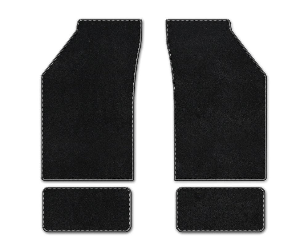 Coverking DFMBXA01CH10113B1 Premium Plush Designer Floor Mats Style B Black Front Center Chevrolet Silverado 1500 2019-2021