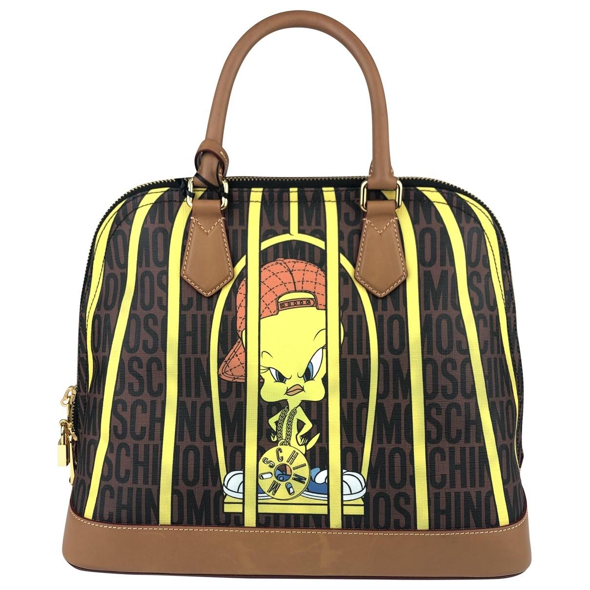Moschino \N Handtasche in  Bunt Leinen