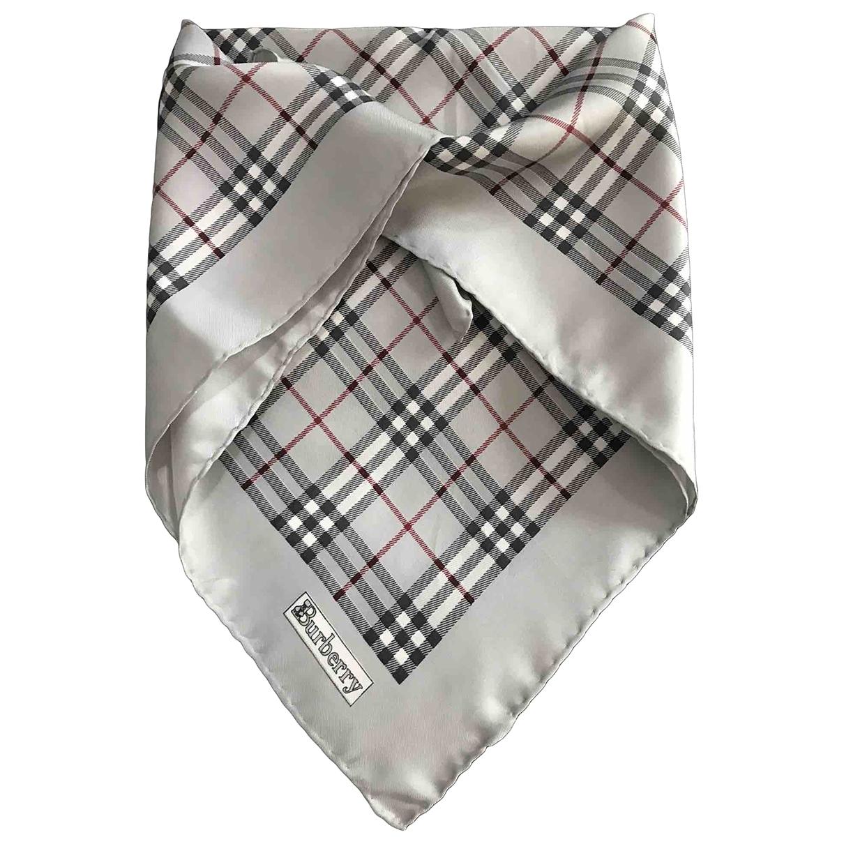 Burberry \N Grey Silk scarf for Women \N