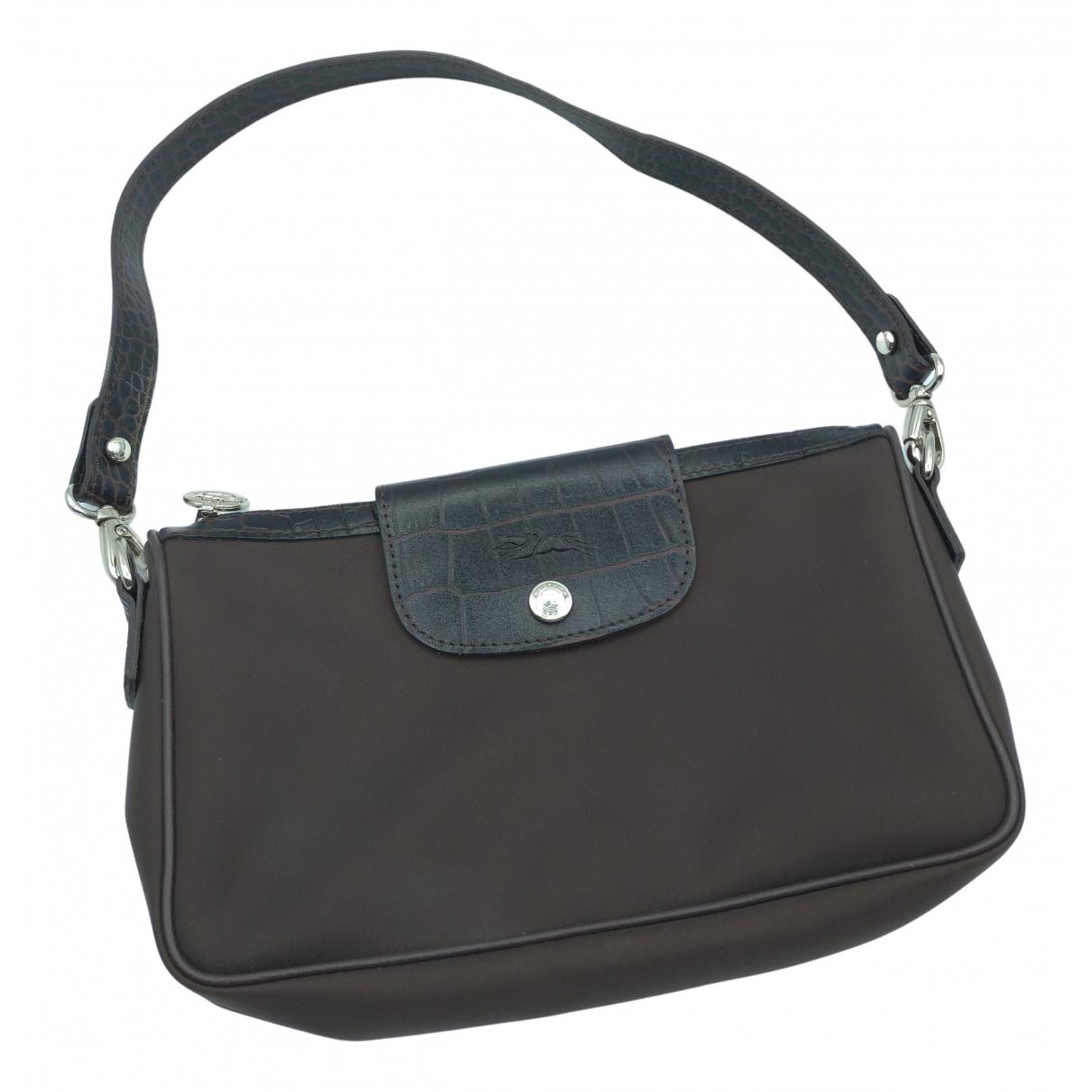 Longchamp - Pochette   pour femme en toile - marron