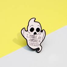 Broche de niños con diseño de fantasma