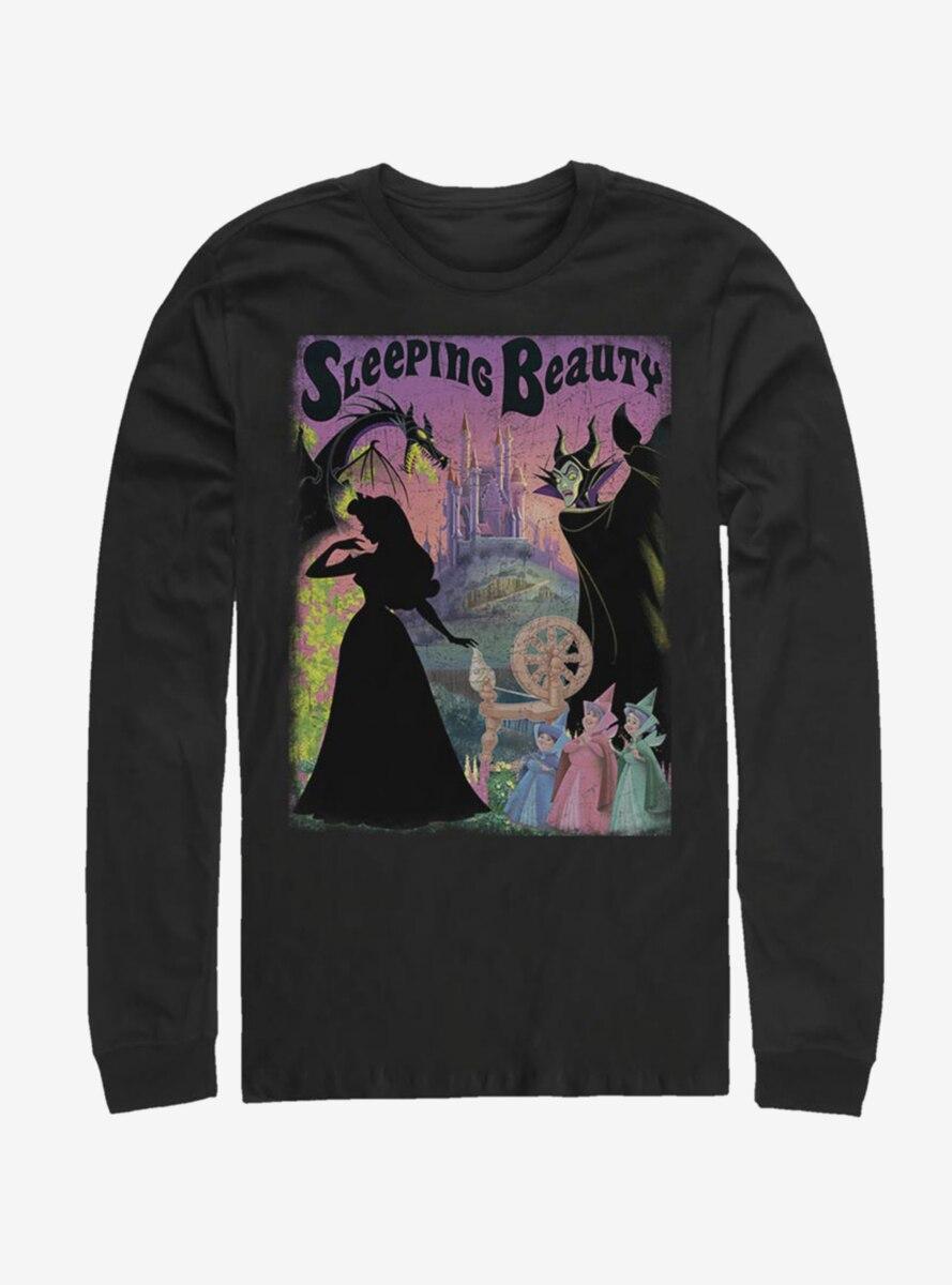 Disney Sleeping Beauty Classic Poster Long-Sleeve T-Shirt
