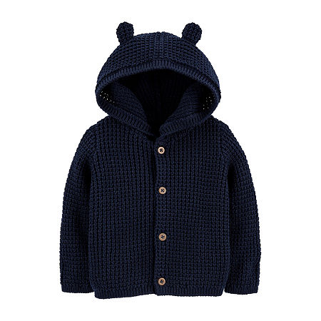 Carter's Baby Boys Long Sleeve Cardigan, 12 Months , Blue