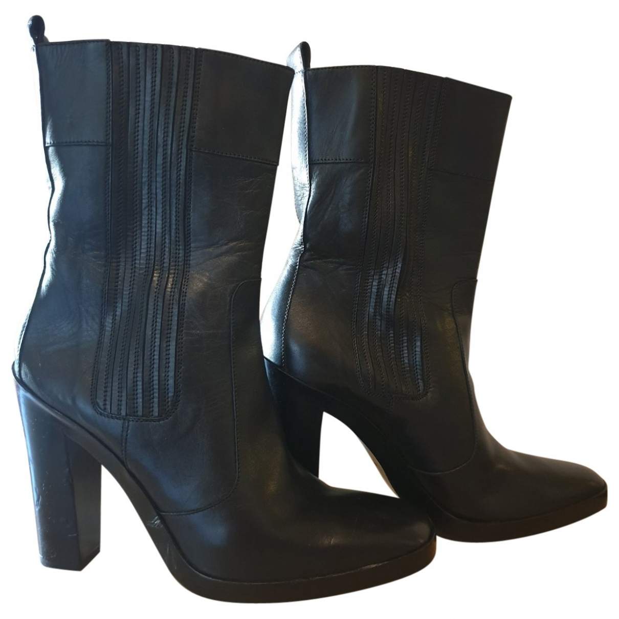 Balenciaga \N Black Leather Ankle boots for Women 40.5 EU