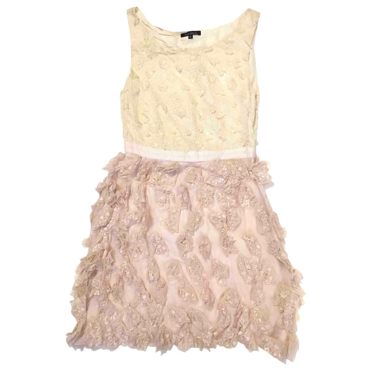 Tara Jarmon \N Pink Cotton dress for Women 38 FR