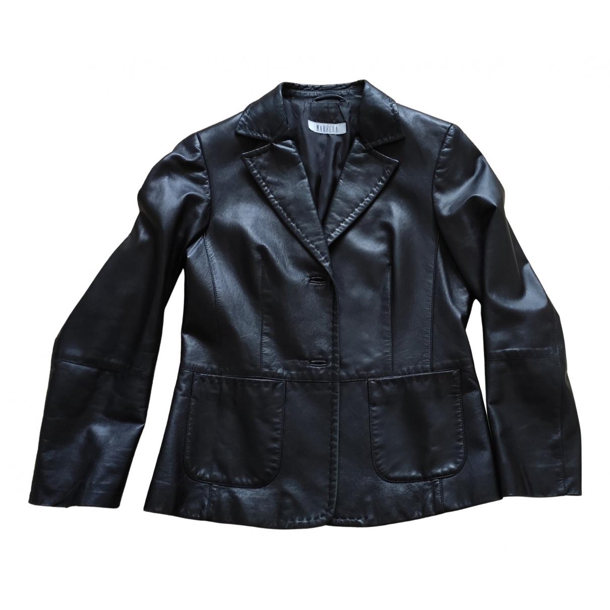 Marella - Veste   pour femme en cuir - noir