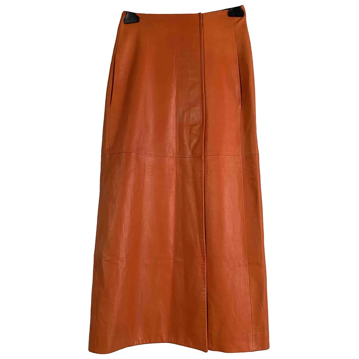 Lanvin \N Rocke in  Orange Leder