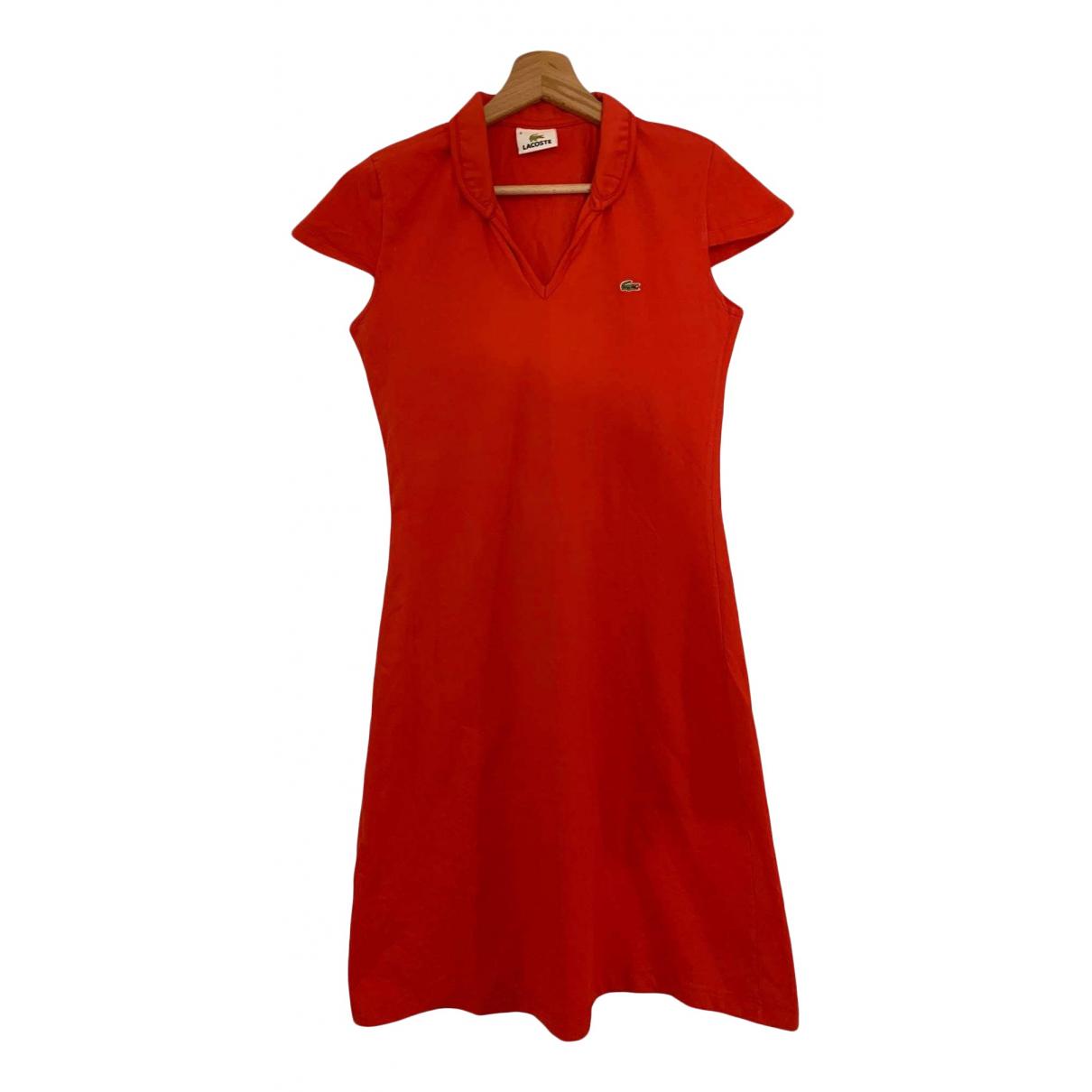 Lacoste - Robe   pour femme en coton - rouge