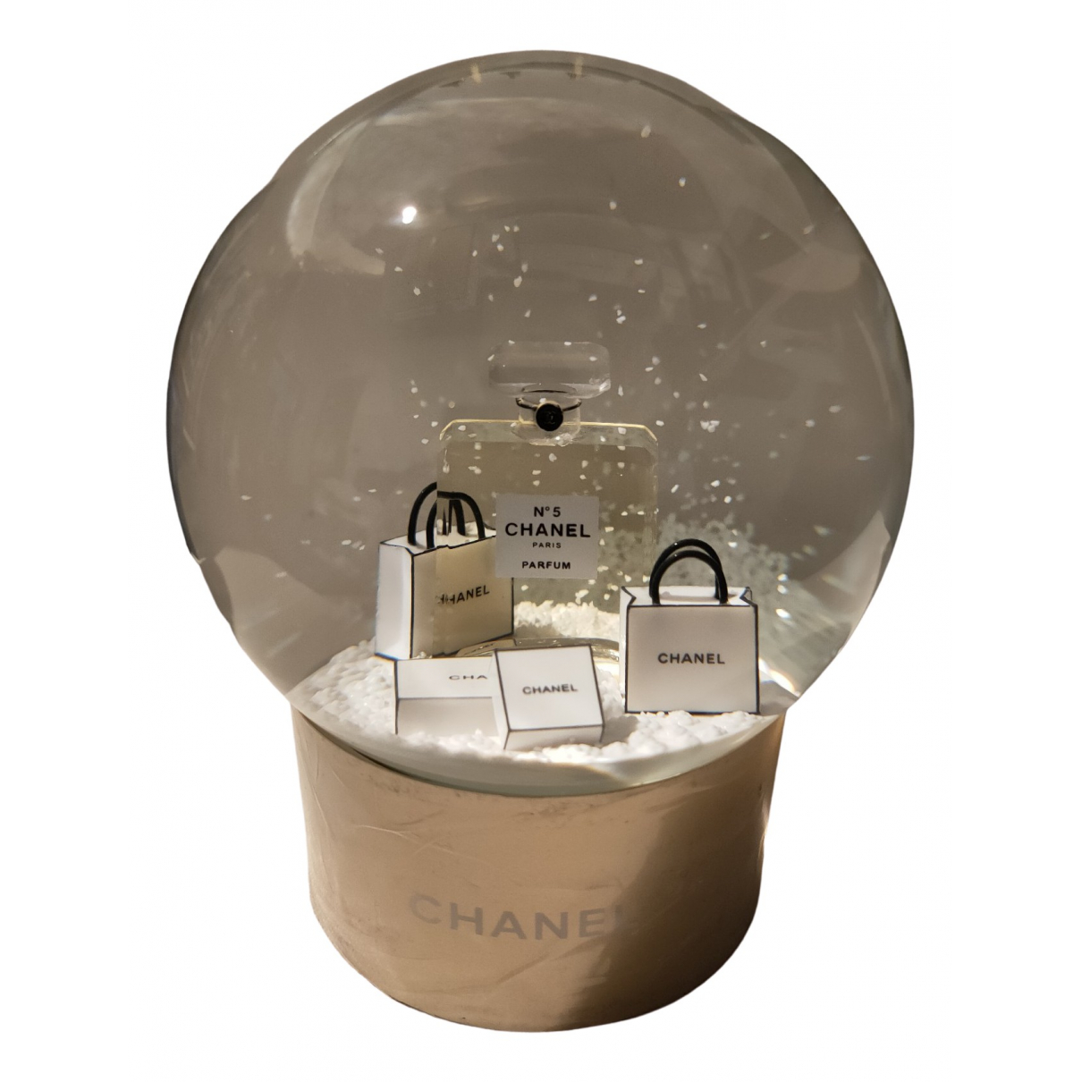 Chanel \N Gold Glass Home decor for Life & Living \N