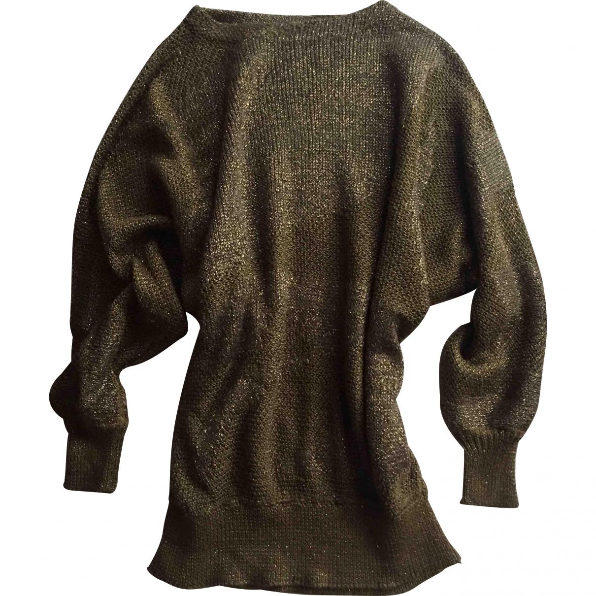 Max Mara \N Pullover in  Gold Viskose