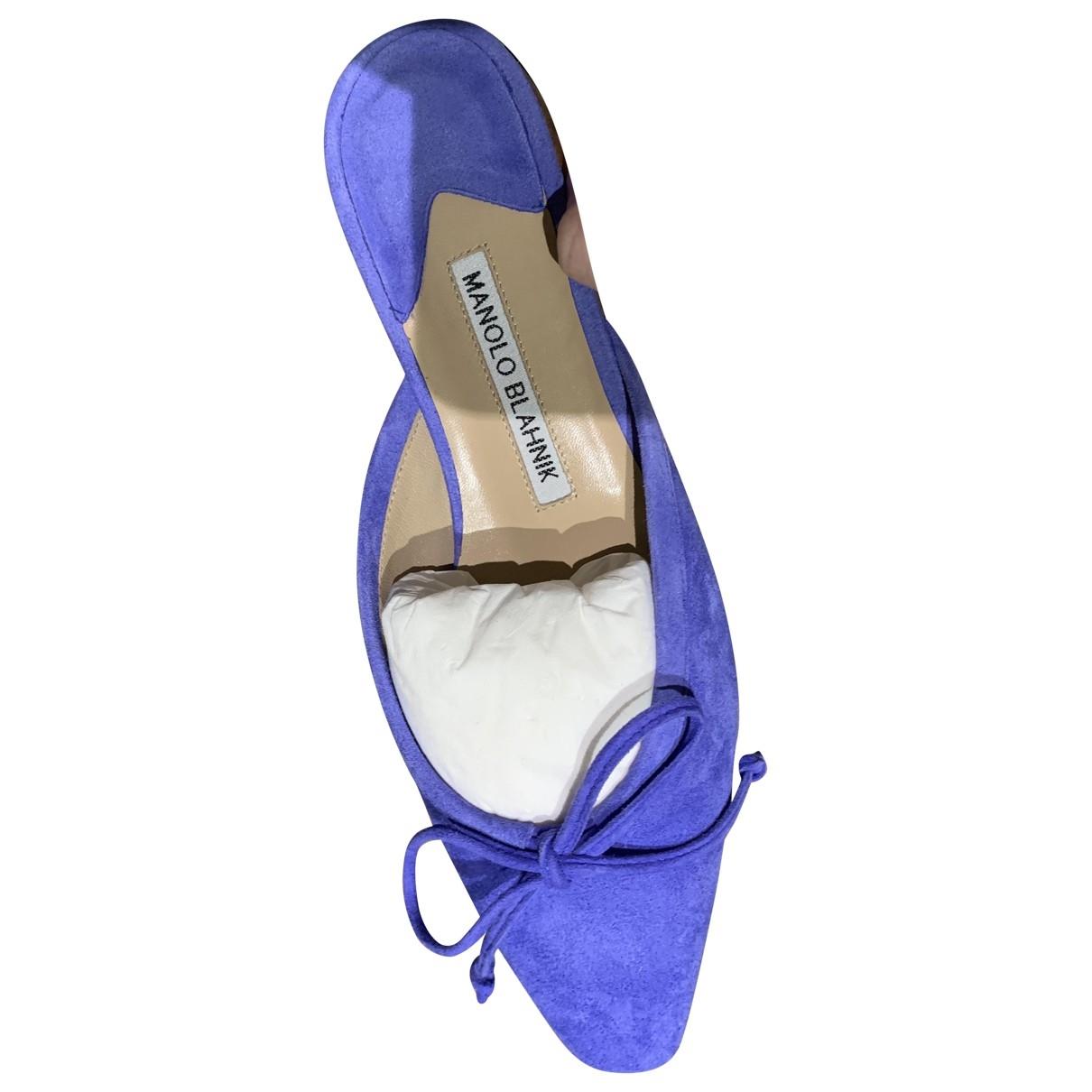Manolo Blahnik - Sandales   pour femme en suede - violet