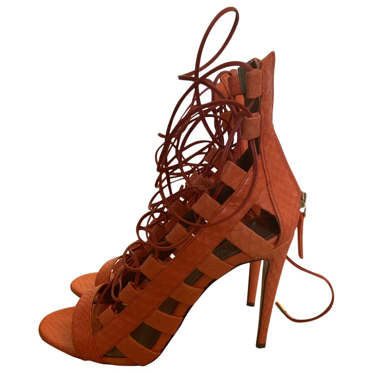Aquazzura \N Orange Water snake Heels for Women 39 EU