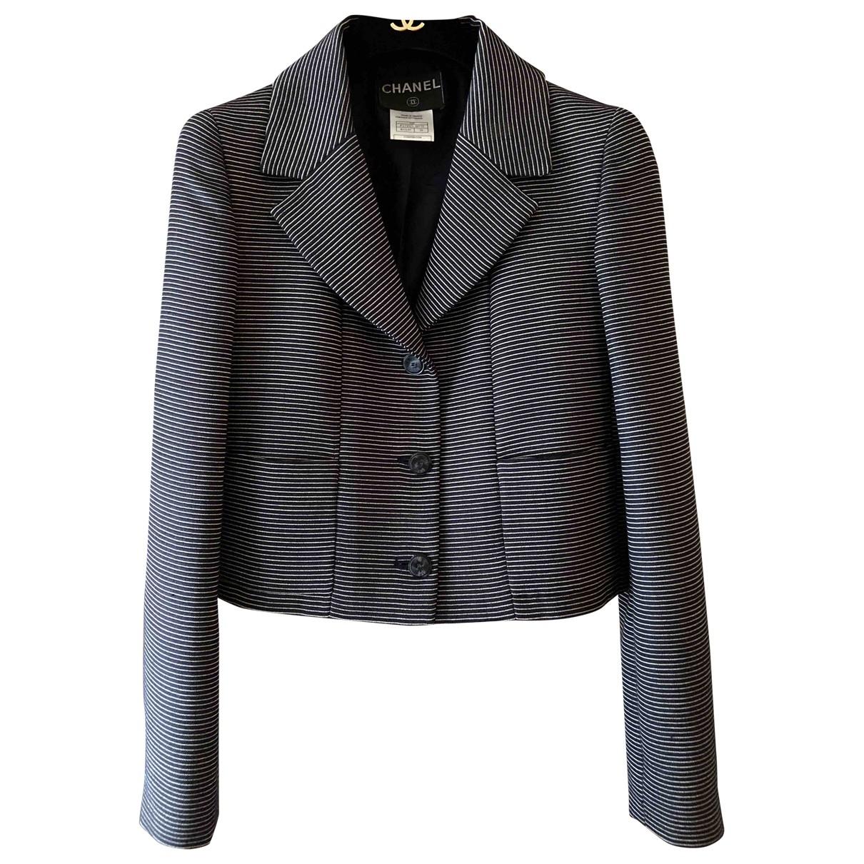 Chanel - Veste   pour femme en laine - marine