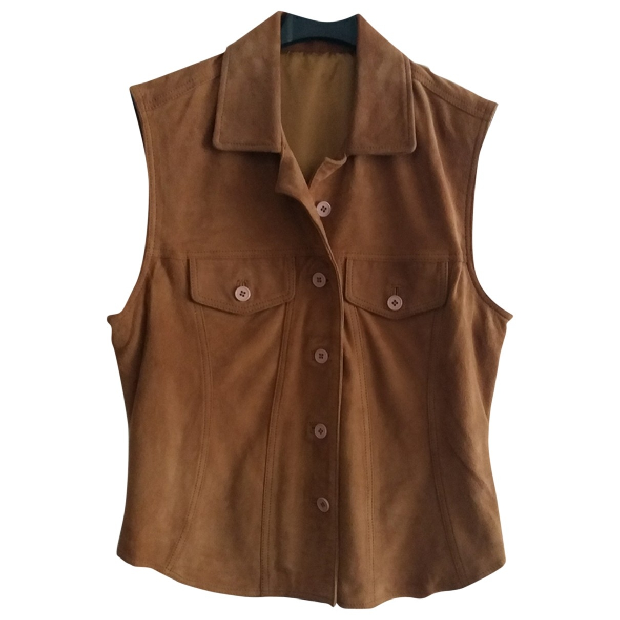 Non Signé / Unsigned \N Brown Suede  top for Women M International