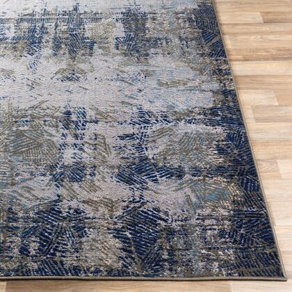 ADO1020-24710 2 4 x 7 10 Rug  in Medium Gray and Charcoal and Navy and Beige and