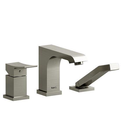 Zendo TZO16BN 3-Piece Pressure Balance Deck Mount Tub Filler with Hand Shower Trim  in Brushed