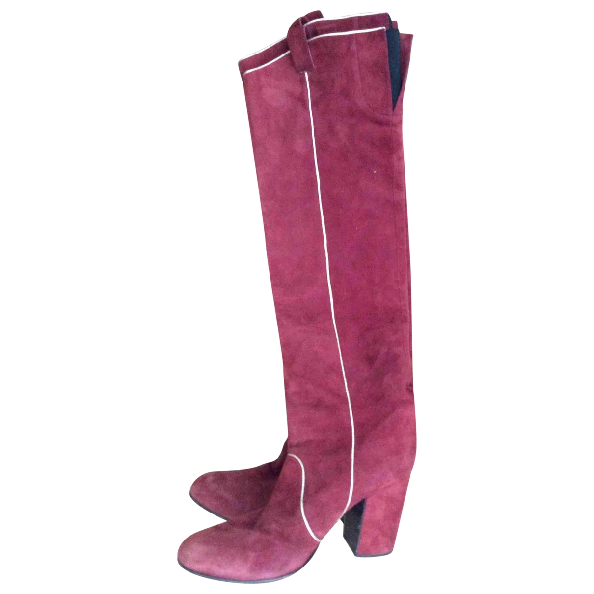 Laurence Dacade \N Burgundy Leather Boots for Women 40 EU