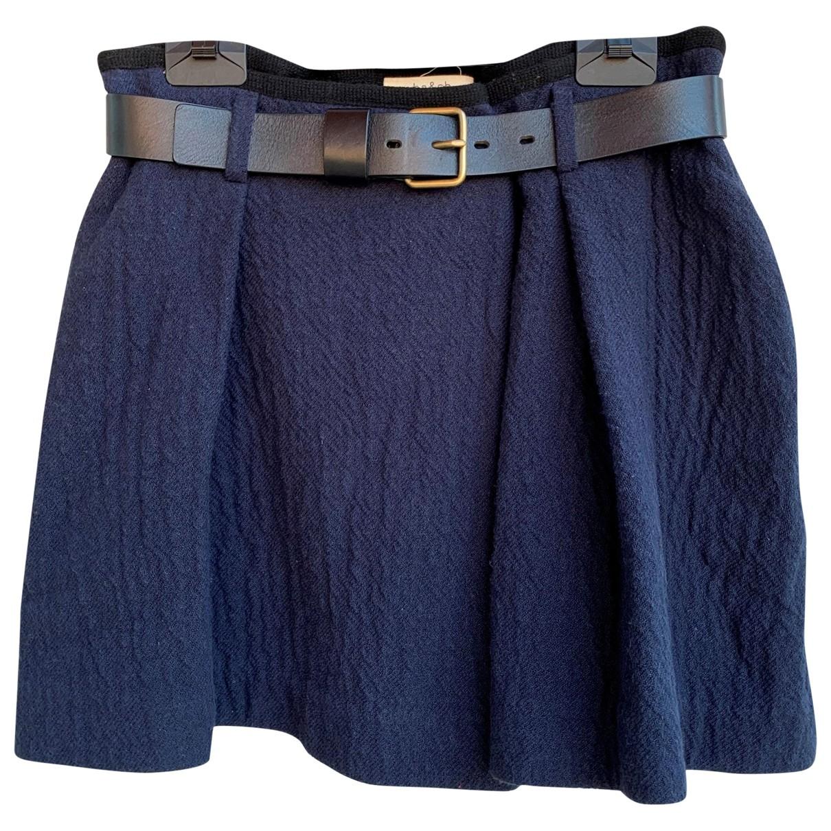 Ba&sh - Jupe   pour femme en coton - bleu