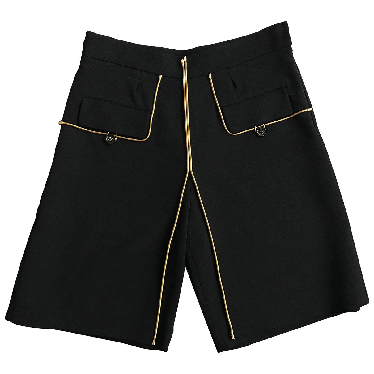 Yves Saint Laurent \N Black Wool Shorts for Women 12 UK