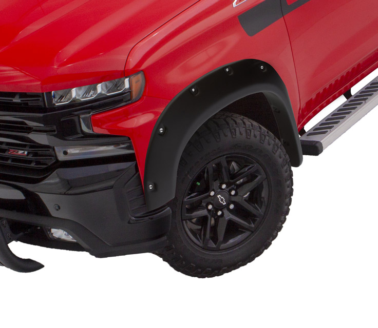 BUSHWACKER Pocket Style Fender Flares 2pc Front Chevrolet Silverado 1500 2019+