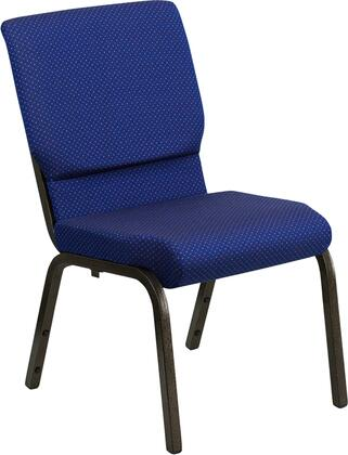 Hercules Collection XU-CH-60096-NVY-DOT-GG Multipurpose Church Chair with 16 Gauge Steel Frame  Waterfall Seat Edge  Floor Protector Glides  Powder