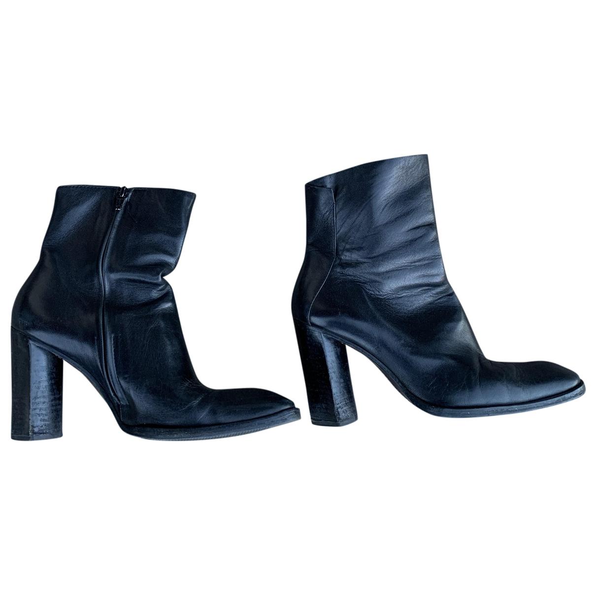 Costume National - Bottes   pour femme en cuir - noir