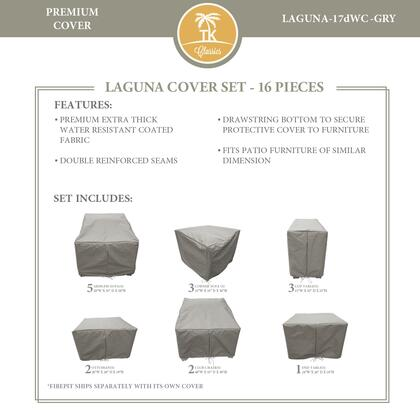 LAGUNA-17dWC-GRY Protective Cover Set  for LAGUNA-17d in
