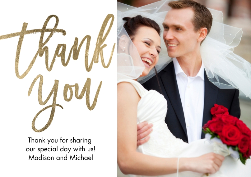 Thank You 5x7 Postcards, Card & Stationery -Thank You