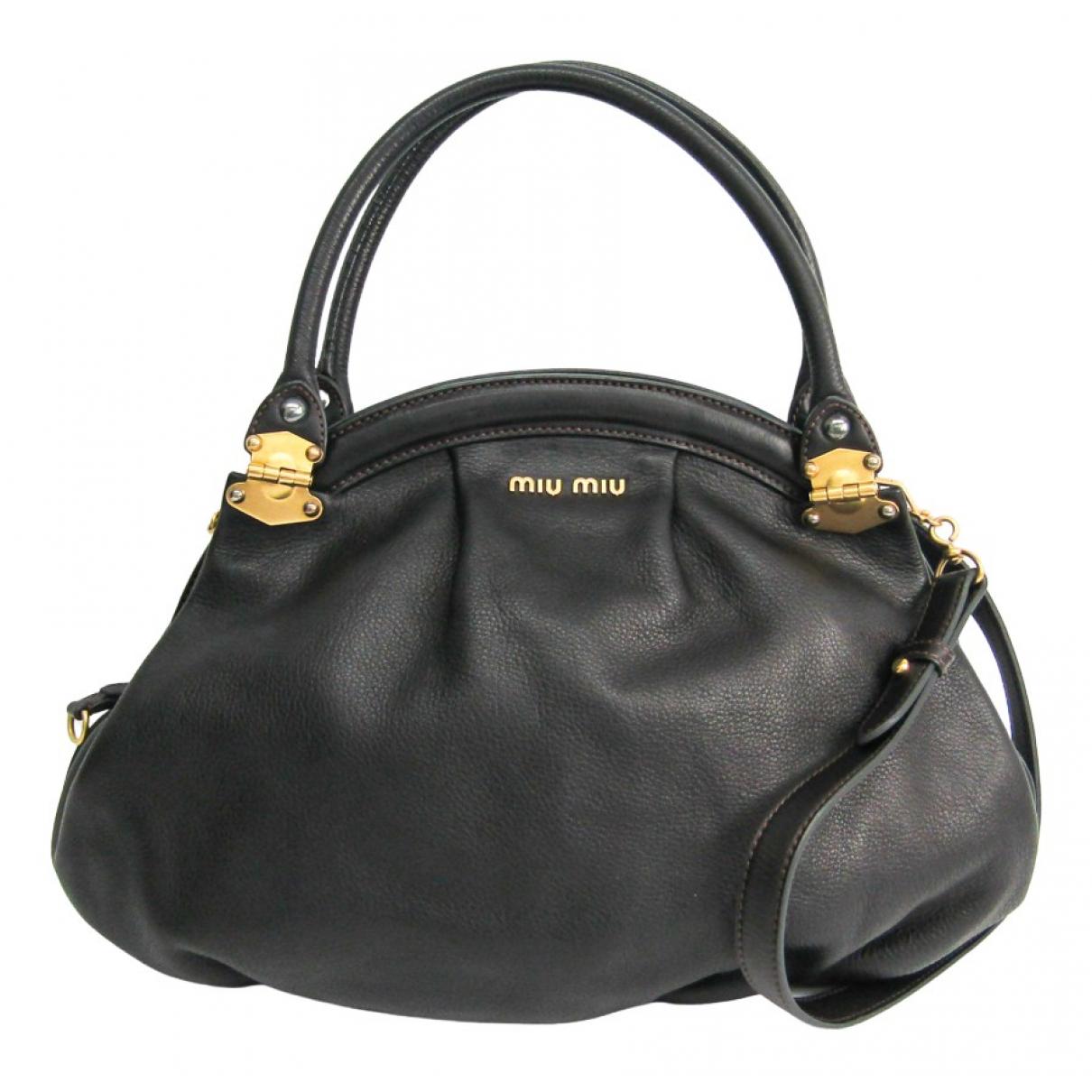 Miu Miu N Black Leather handbag for Women N
