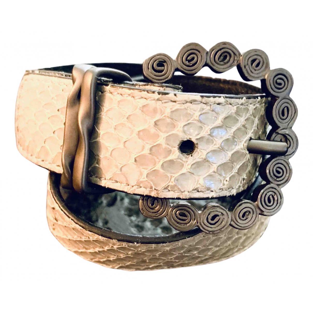 Bottega Veneta - Bracelet   pour femme en cuir exotique - gris