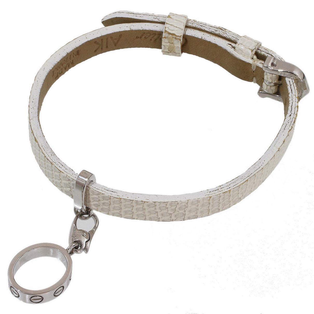 Cartier - Bracelet   pour femme en cuir - blanc