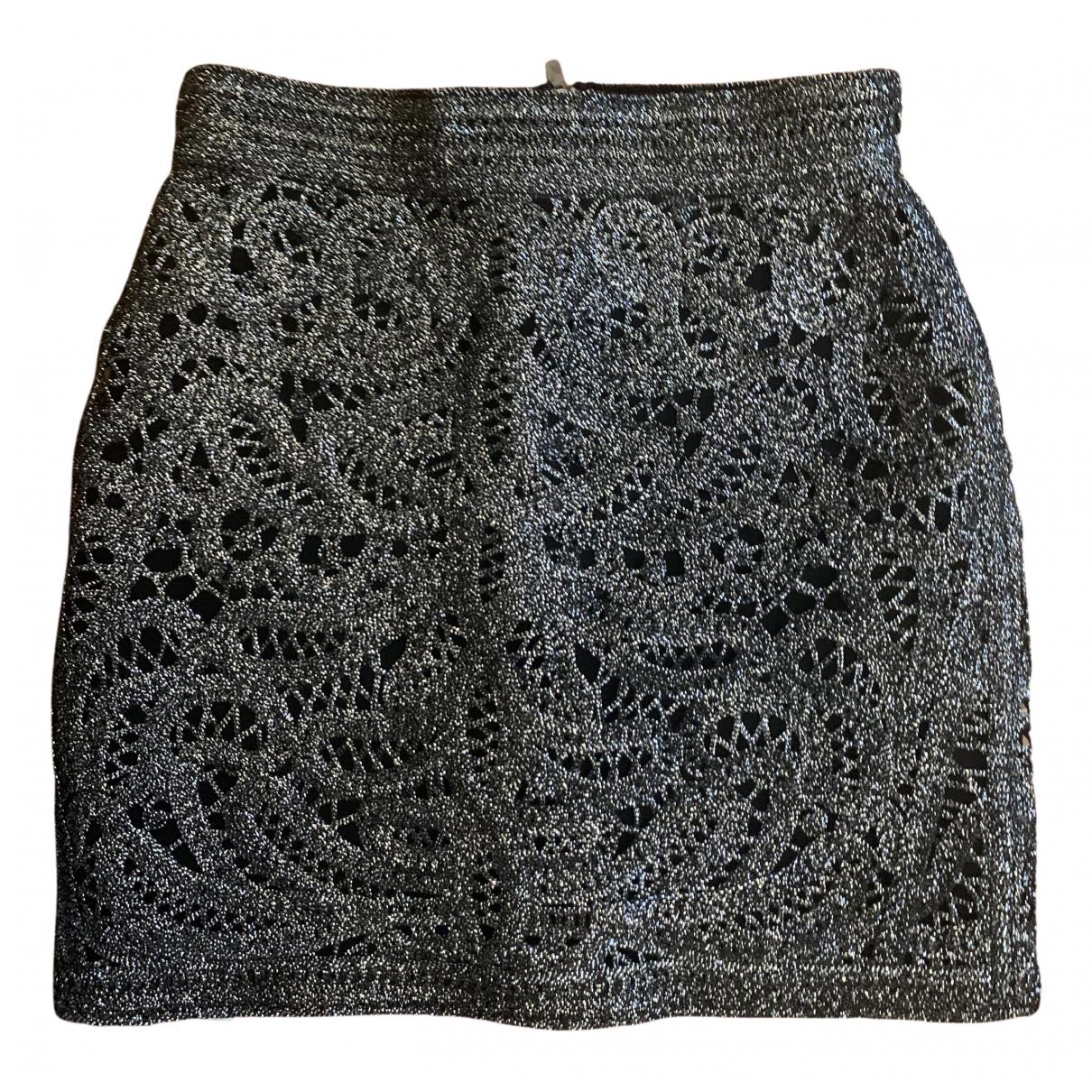 Maje - Jupe   pour femme en coton - argente