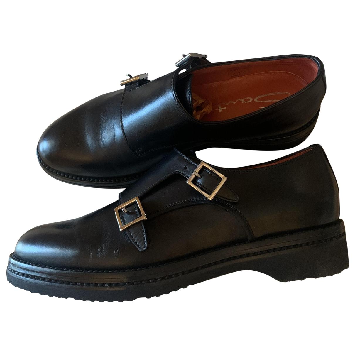 Santoni \N Black Leather Lace ups for Women 35 EU