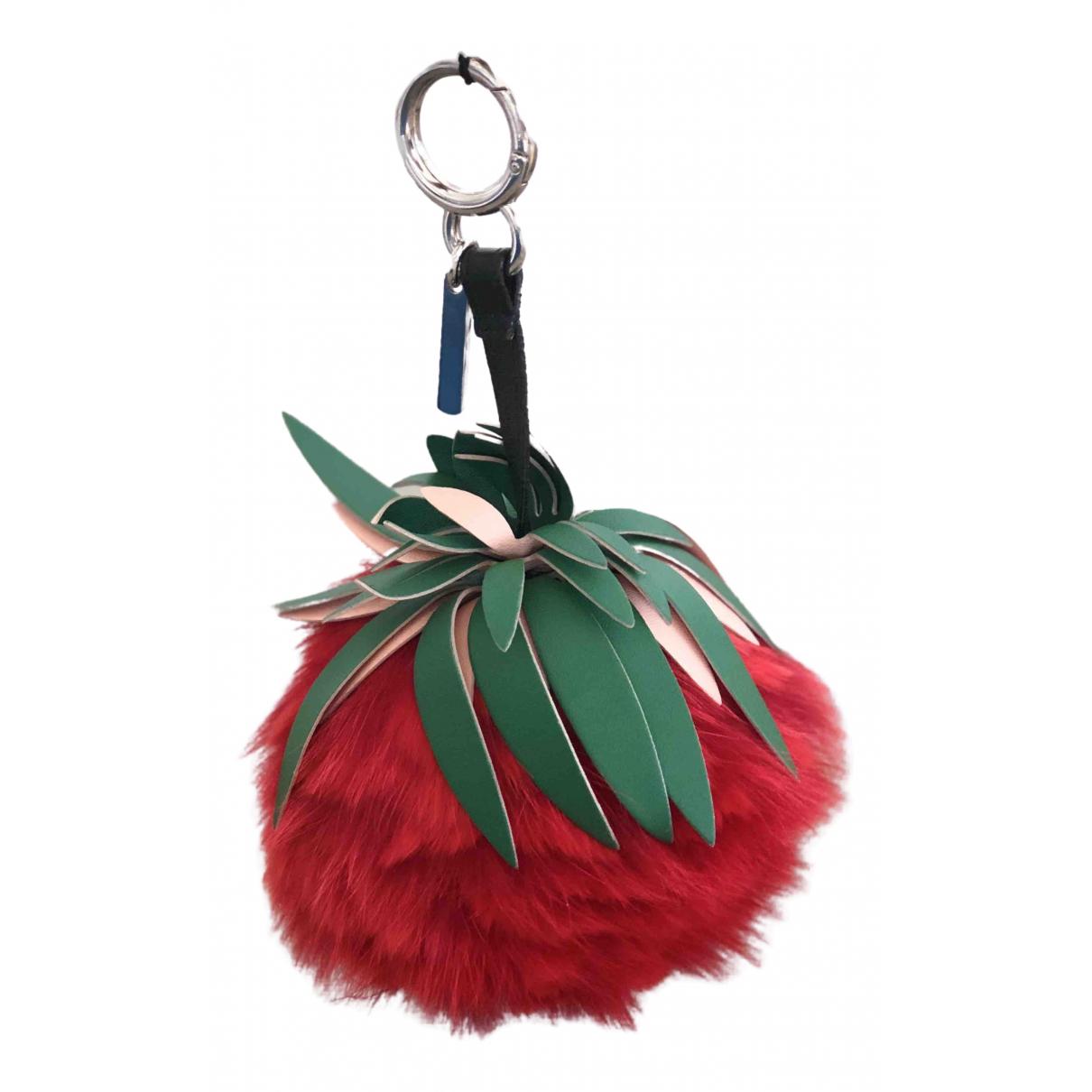 Fendi - Bijoux de sac   pour femme en renard - rouge