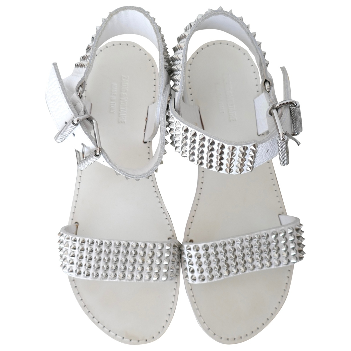 Zadig & Voltaire \N White Leather Sandals for Women 37 EU