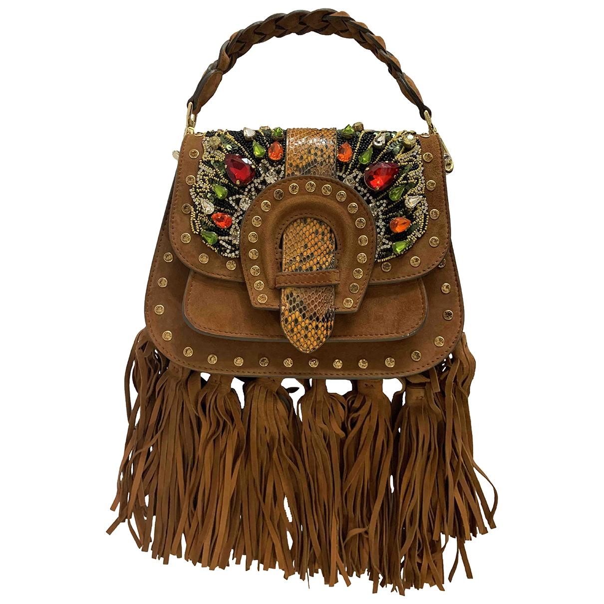 Gedebe \N Brown Suede handbag for Women \N