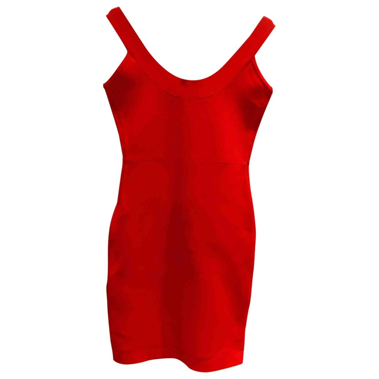 Bcbg Max Azria \N Kleid in  Rot Viskose