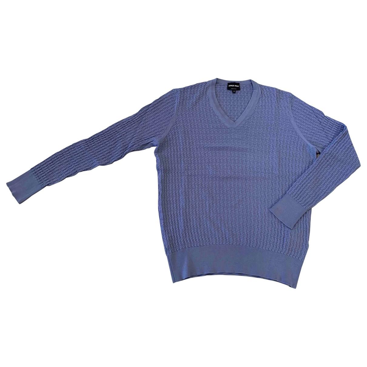 Giorgio Armani \N Blue Wool Knitwear & Sweatshirts for Men 46 IT