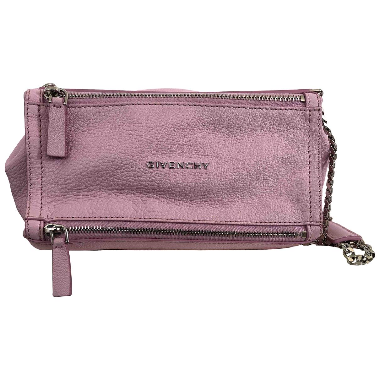 Givenchy Pandora Clutch in  Rosa Leder