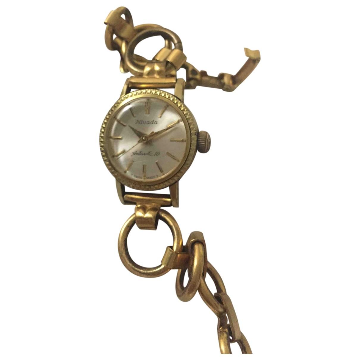 Non Signe / Unsigned \N Uhr in  Gold Vergoldet