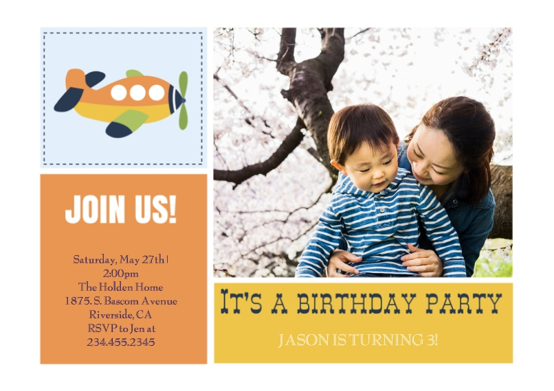 Birthday Party Invites 5x7 Cards, Premium Cardstock 120lb with Rounded Corners, Card & Stationery -Buzzing Birthday