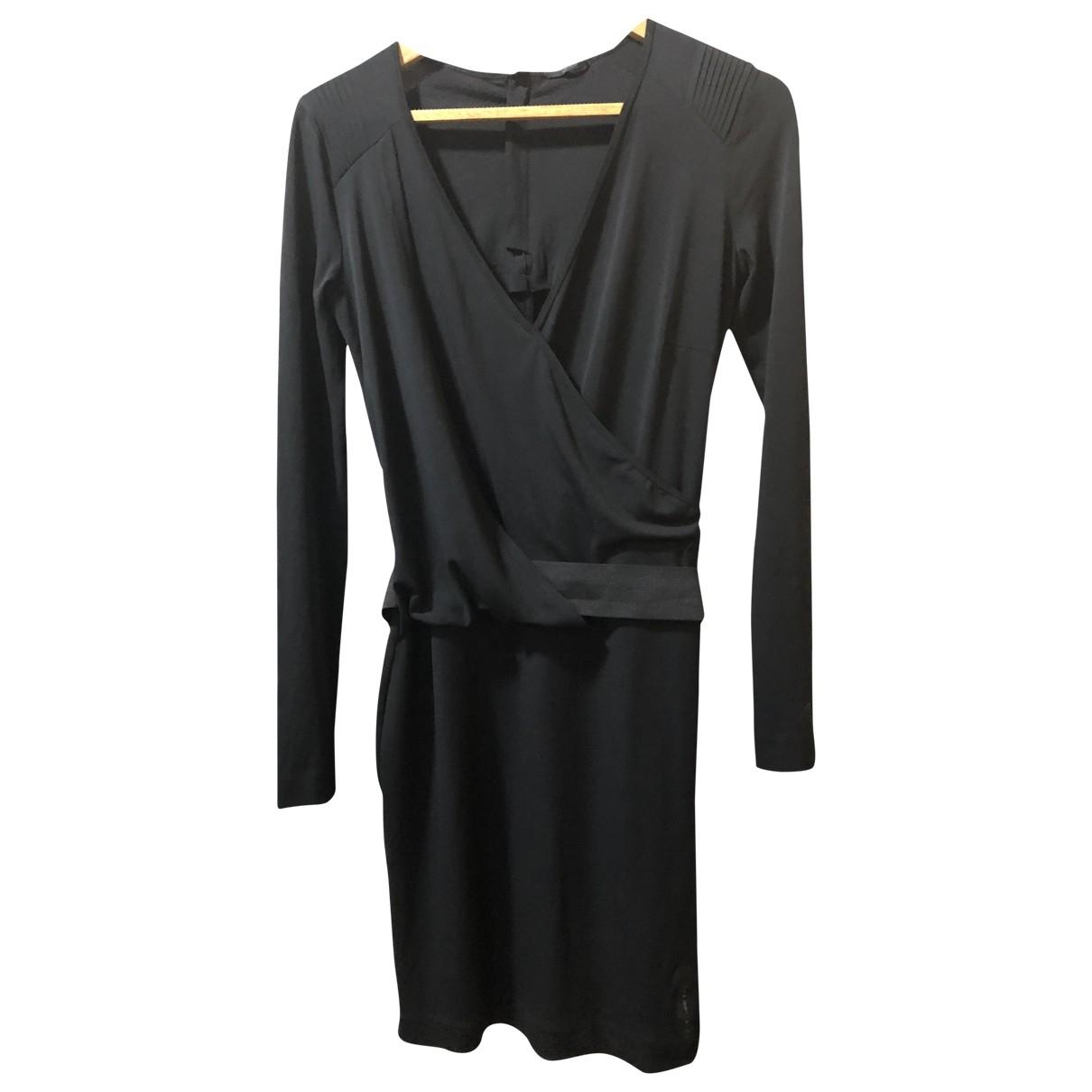 Ikks \N Black Cotton - elasthane dress for Women S International
