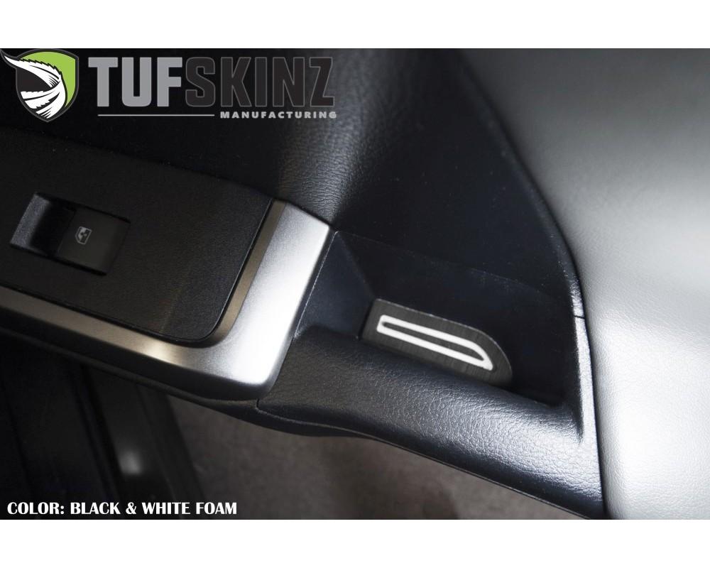 Tufskinz TAC057-FWE-X D-Cab Door Armrest Inserts Fits 2016-2020 Toyota Tacoma 4 Piece Kit In Black/White