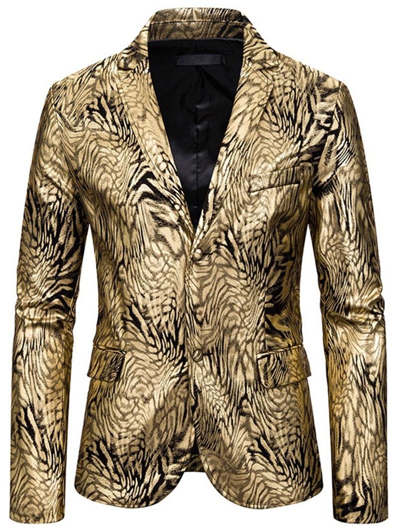 Ericdress Print Fashion Men's Slim Leisure Blazers