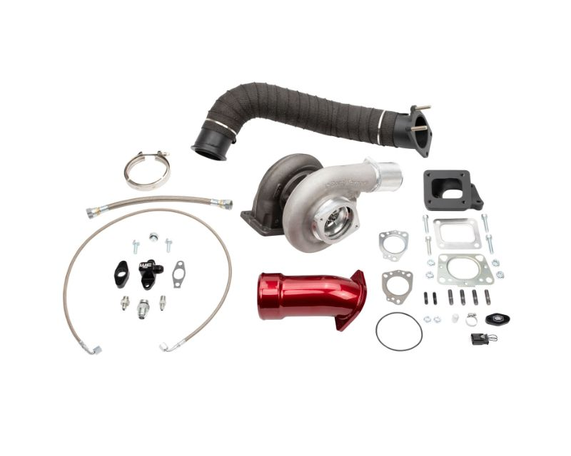 WCFab 2017-2019 L5P Duramax S372 Single Turbo Install Kit Grey Two Stage Powder Coating