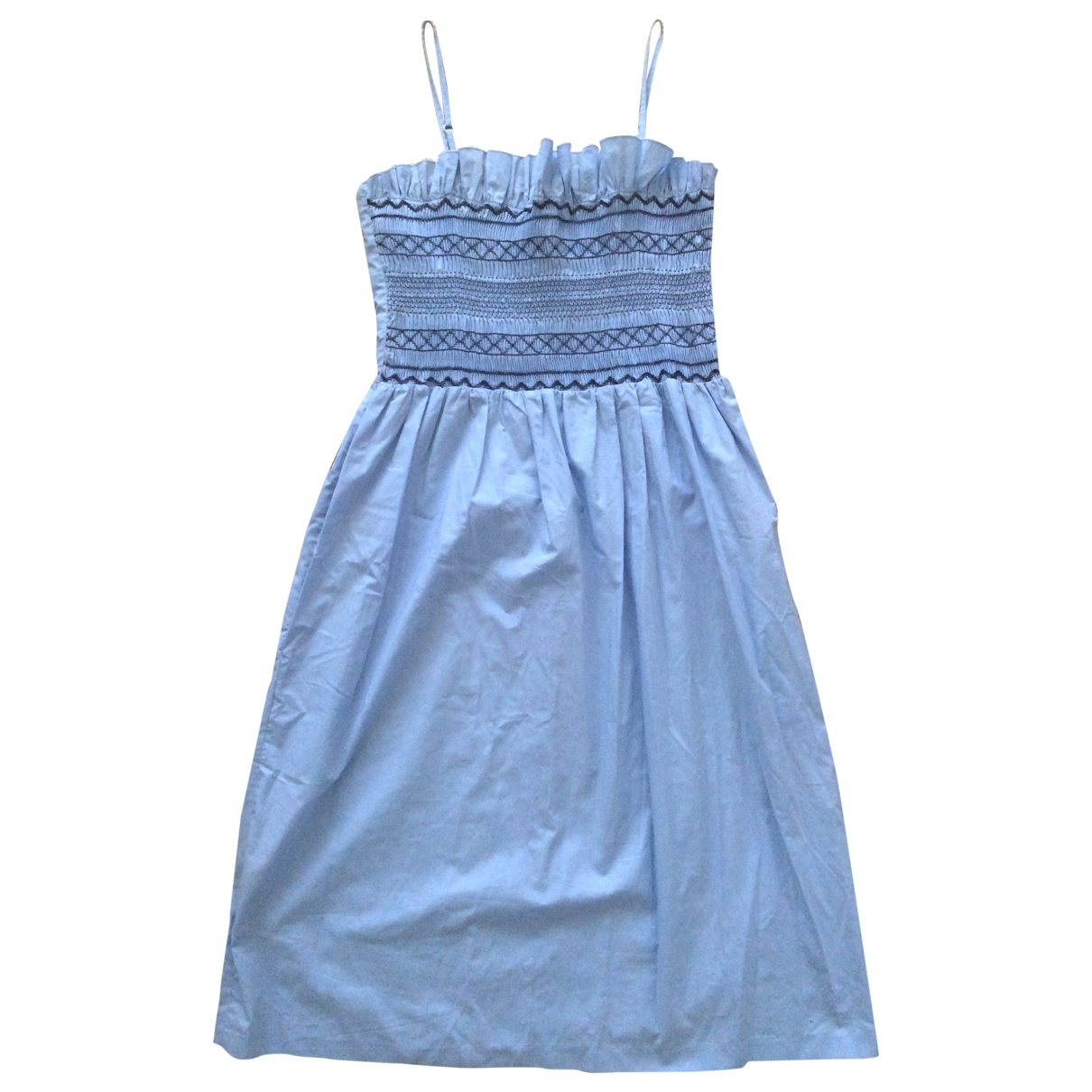 Claudie Pierlot \N Kleid in  Blau Baumwolle