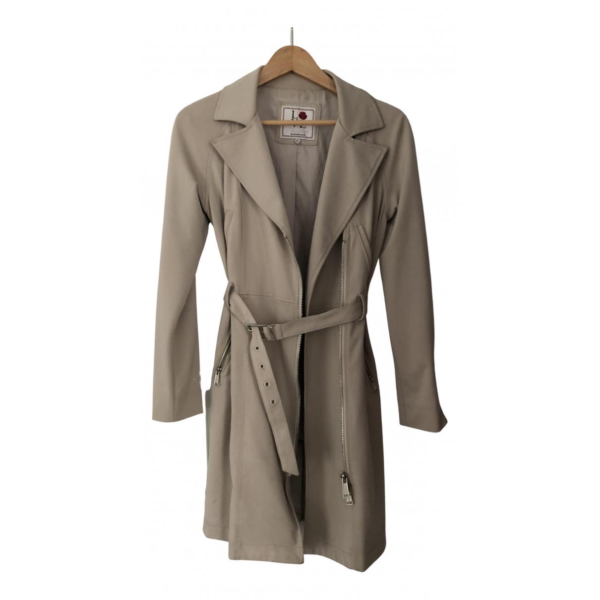 Silvian Heach N Beige Cotton Trench coat for Women 42 IT