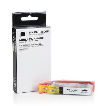 Compatible Canon CLI-42BK noir reservoir encre (6384B002) de Moustache
